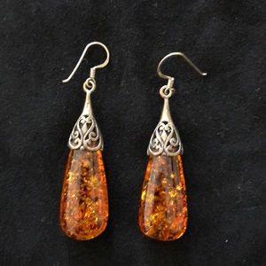 Jewelry - Gorgeous Amber drop earrings